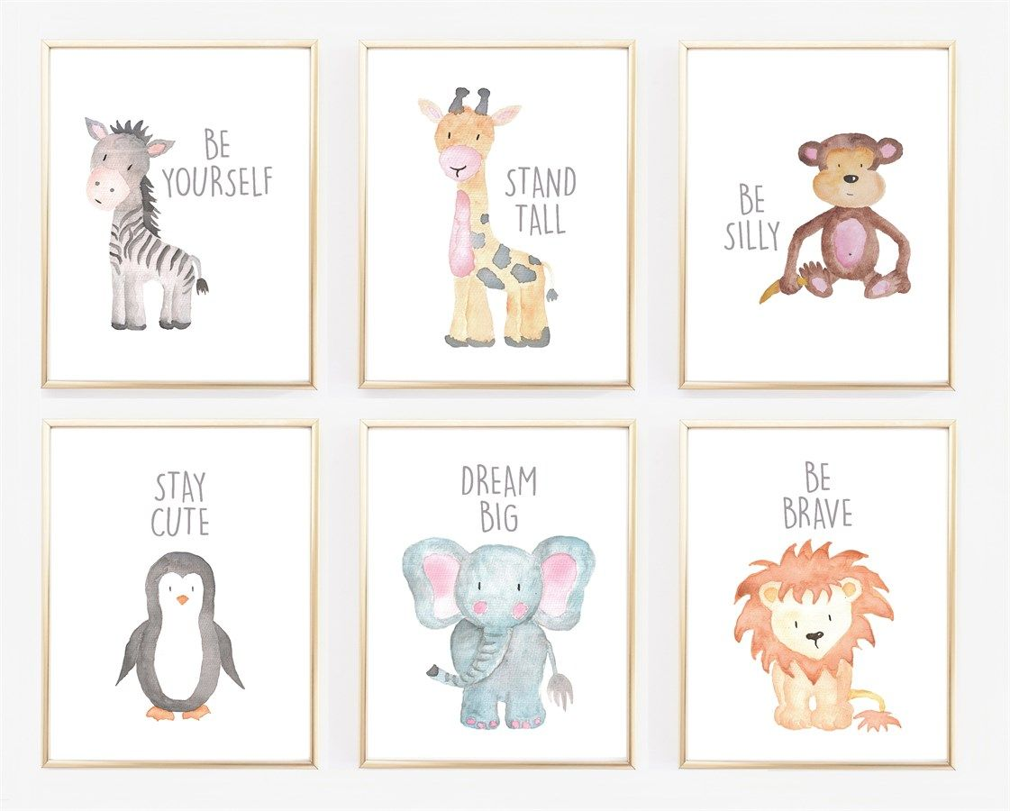 1121x900 Watercolor Baby Animal Nursery Prints Nursery Lt3
