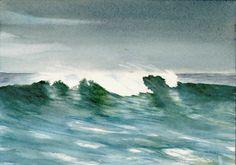 Watercolor Ocean Waves