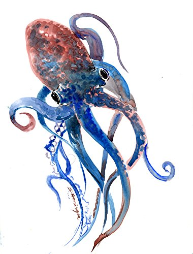 Watercolor Octopus Painting