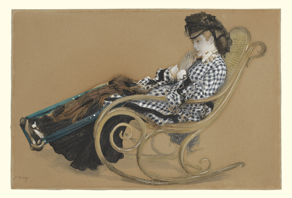 1024x694 Young Woman In A Rocking Chair, Study For The Painting The Last