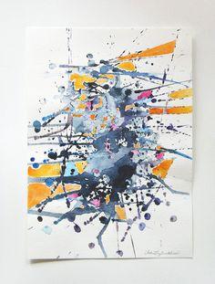Watercolor On Cardboard
