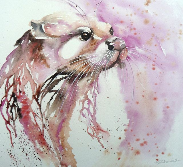 640x582 Queen Otter Breath Taking Artwork! Watercolor
