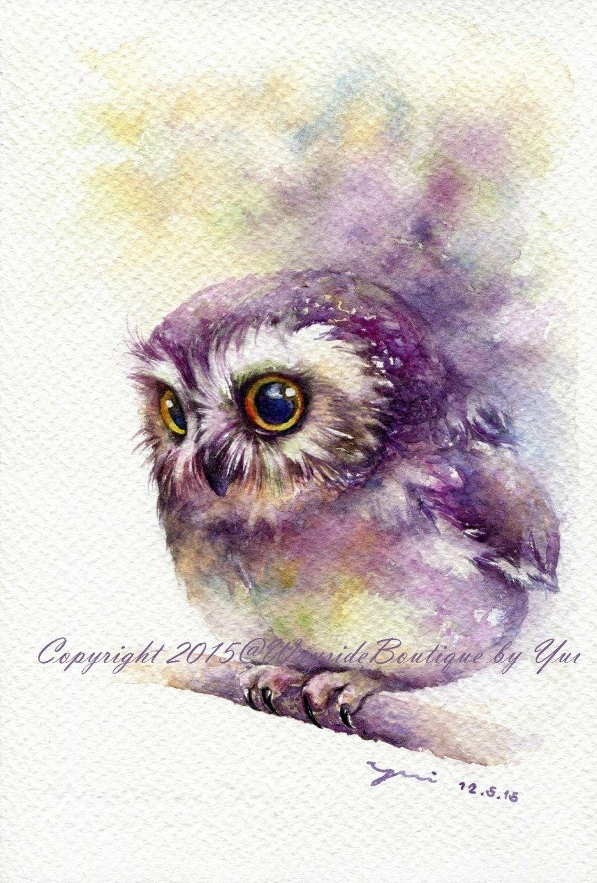 865x1280 Owl Watercolor Owls Owl Watercolor, Owl And Watercolor