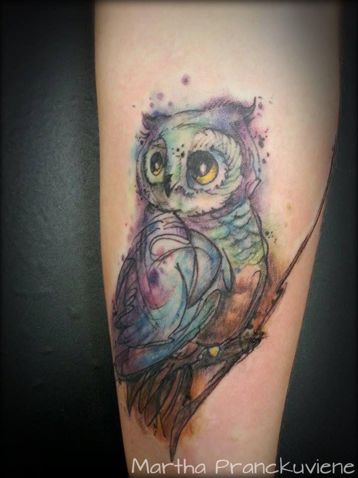 720x960 Watercolor Owl Owl Tattoo Watercolour Owl Tattoo Tattoo
