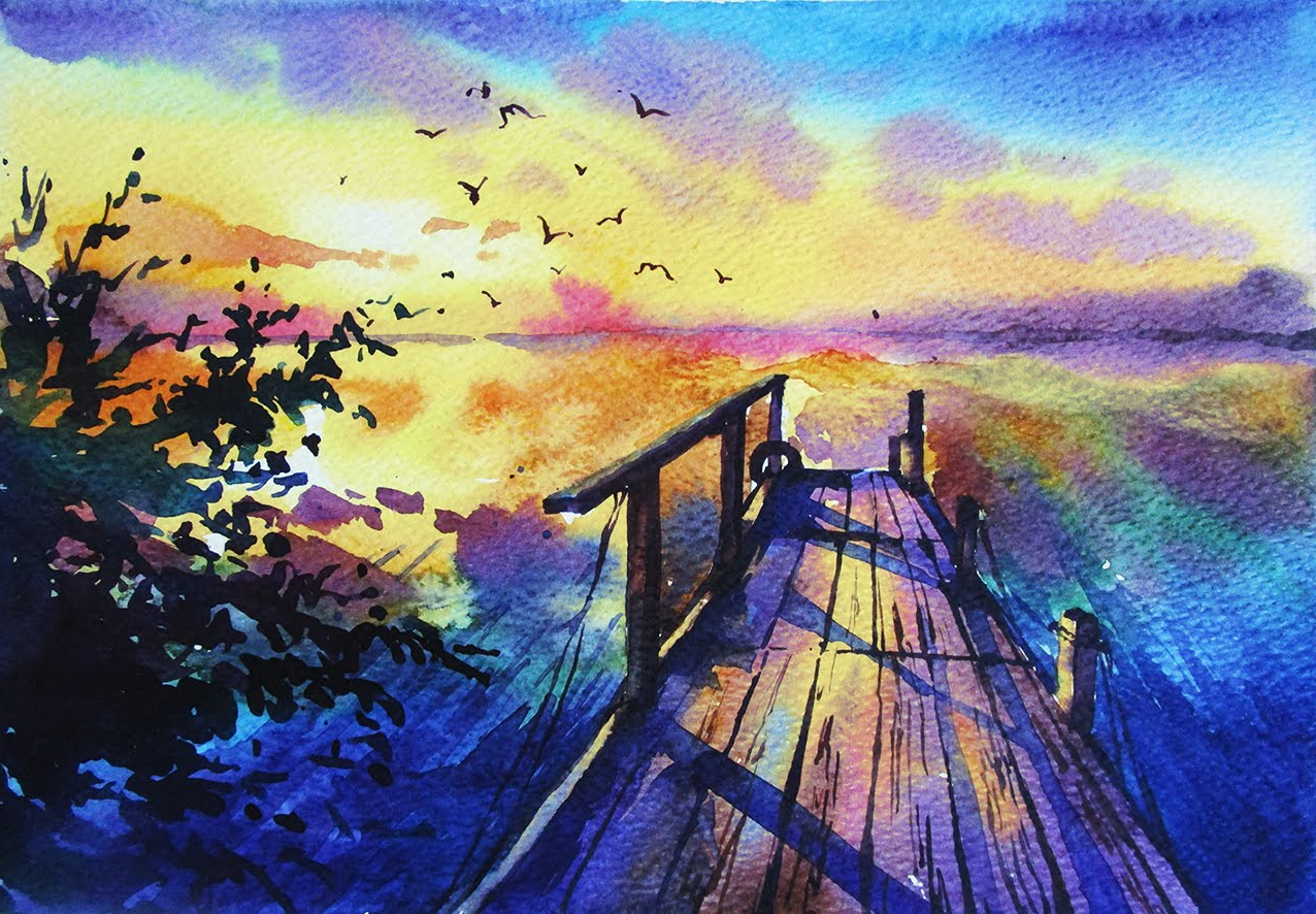 Watercolor Painting Designs At Getdrawings Com Free For Personal