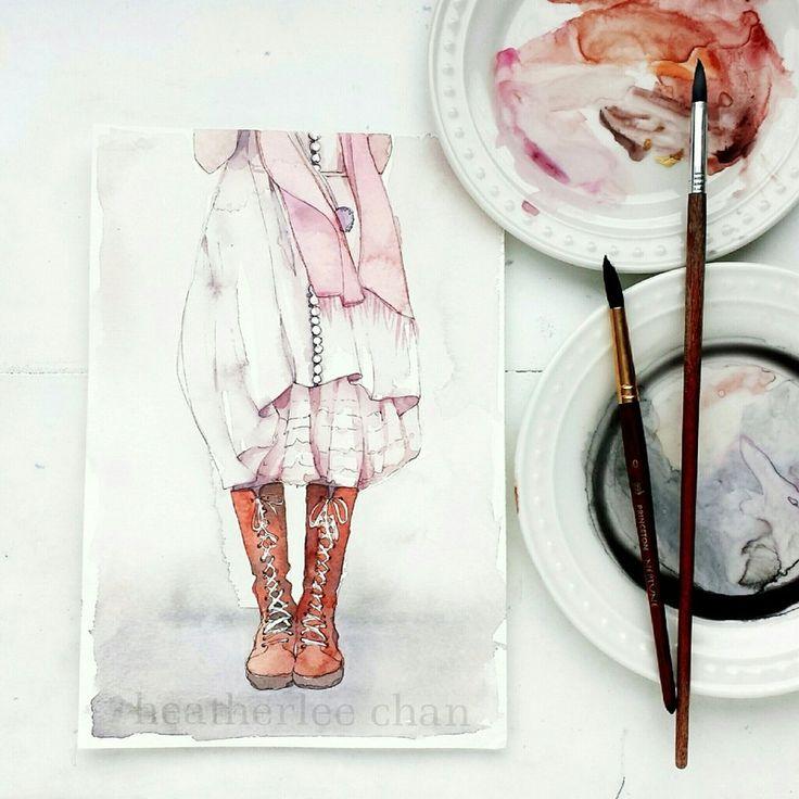 Watercolor Painting Illustrator