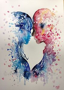 Watercolor Painting Love