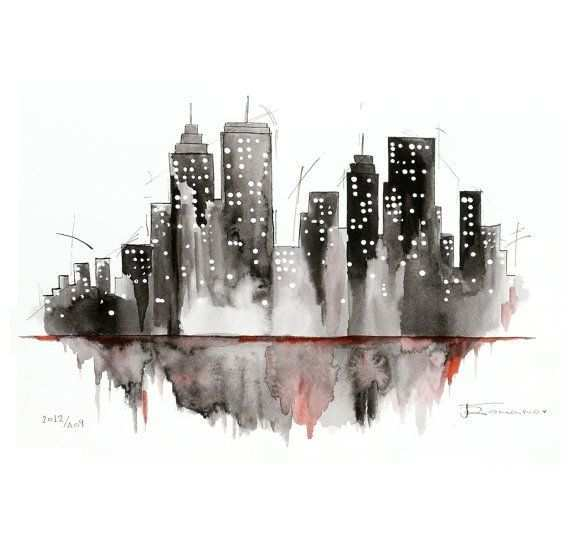 570x554 New York City Painting Luxury Best 25 Watercolor City Ideas On