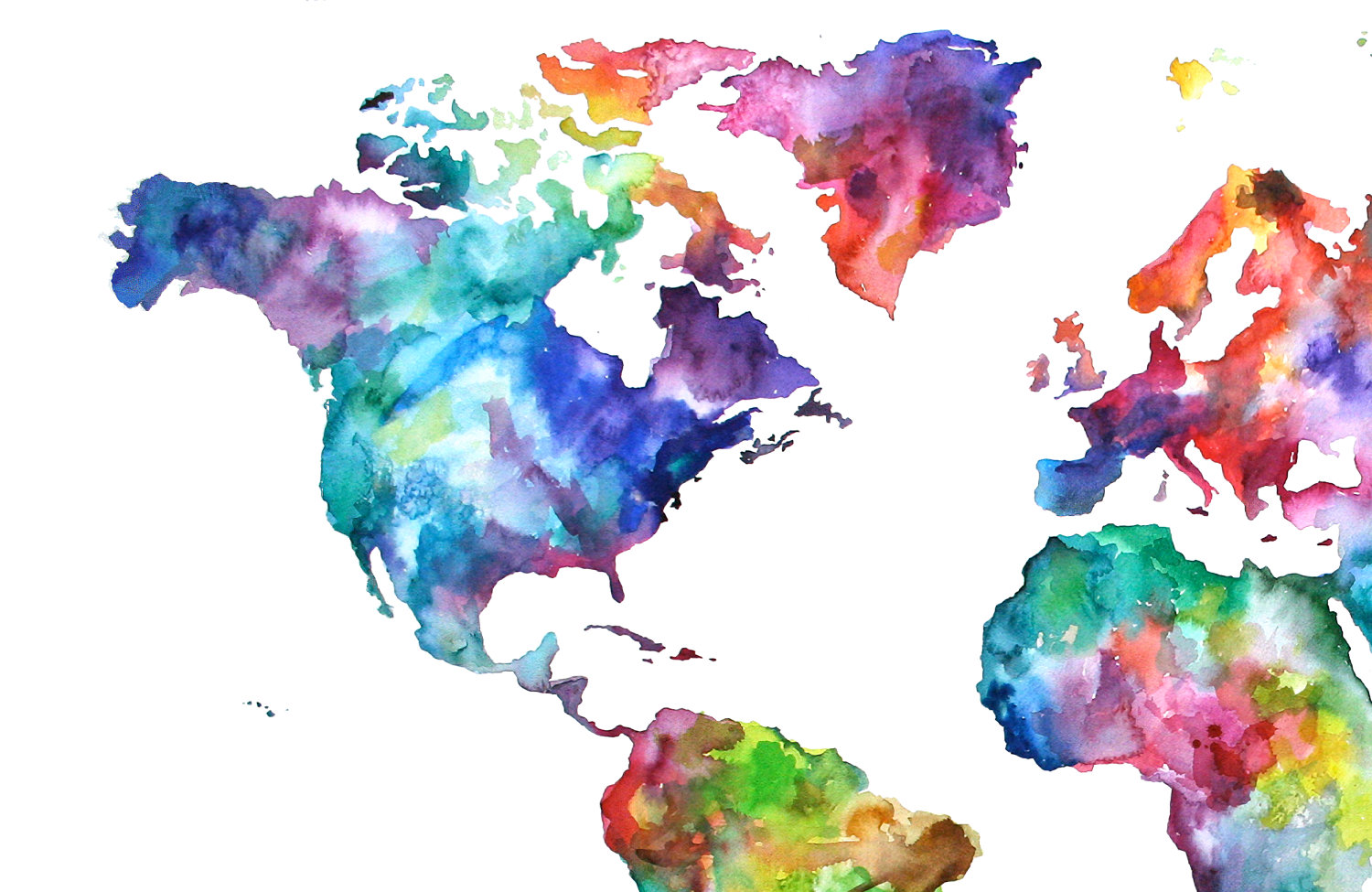 Watercolor Painting Of The World at GetDrawings.com | Free for ...