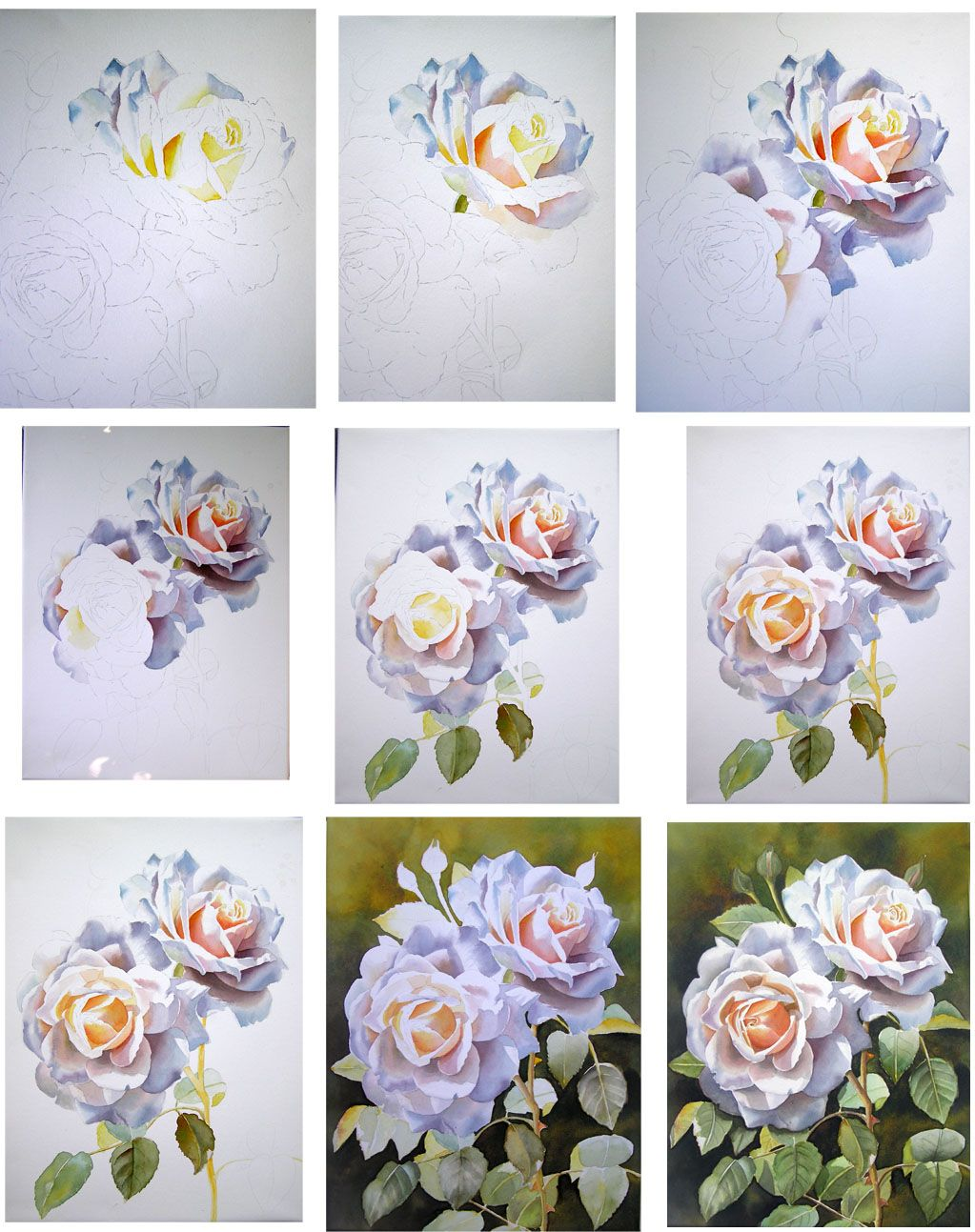 1023x1293 How To Paint A Rose