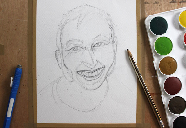 600x413 Learn The Basic Steps Of Watercolor Portrait Painting