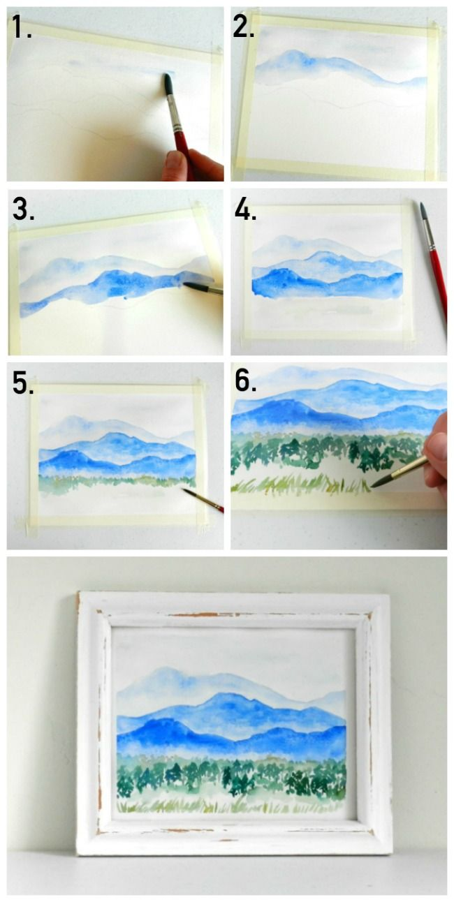 650x1292 Learn To Paint A Watercolor Mountainscape Canvas And
