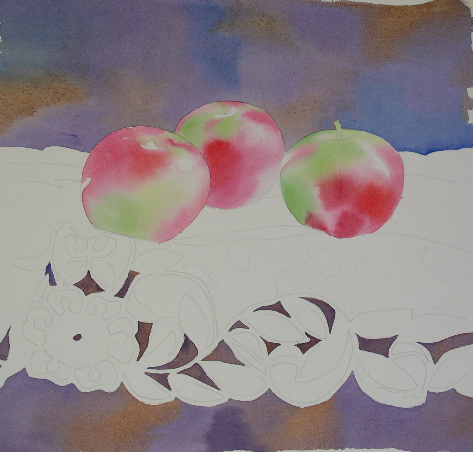 1600x1528 Perfect Apples Watercolor Painting Demonstration Steps Pics Best