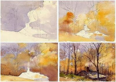 400x286 Photos Step By Step Watercolor Landscape,