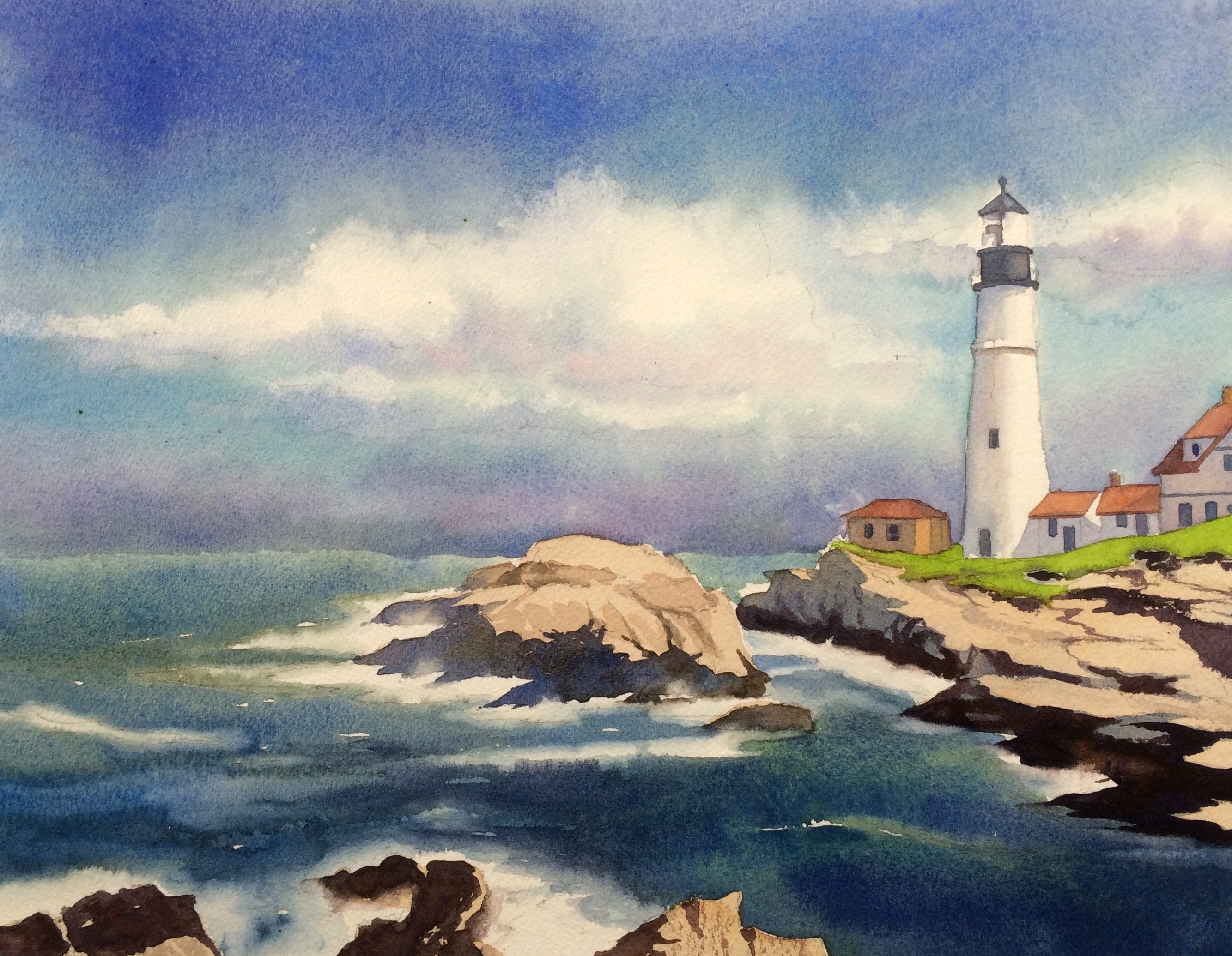 2667x2071 Classic Step By Step How To Paint A Seascape (Pics)
