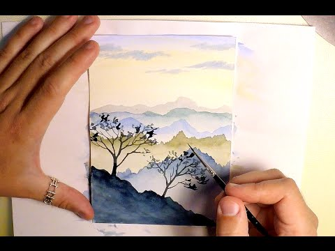 480x360 How To Paint Mountains Landscape