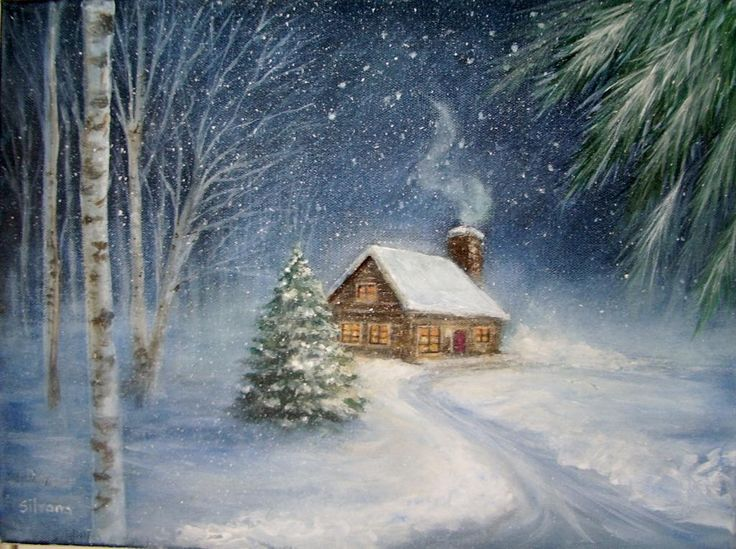 Watercolor Painting Winter Scenes at GetDrawings com | Free for
