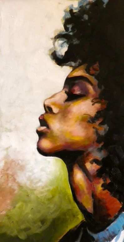 396x770 Black Girl Painting Awesome African American Women Wallpaper