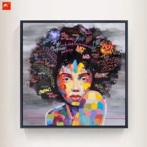 300x300 China Modern Pop Black Women Portrait Oil Painting On Canvas Print