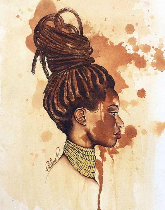 564x718 Pin By Eclipserosa On Arte Locs, Black Women Art And