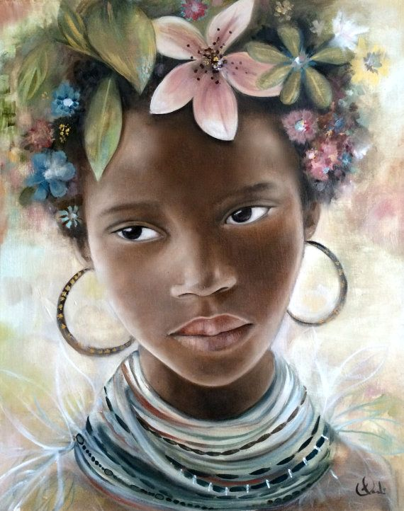570x722 55 Amazing Black Hair Art Pictures And Paintings
