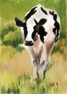 Watercolor Paintings Of Cows
