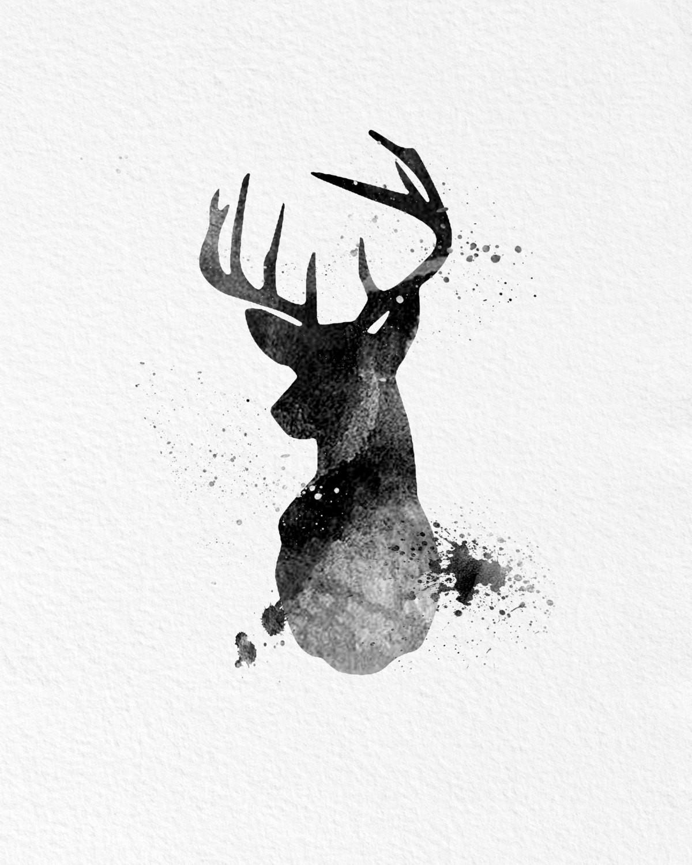 1200x1500 White Deer Wall Decor Best Of Watercolor Art Buck Deer T Modern 8