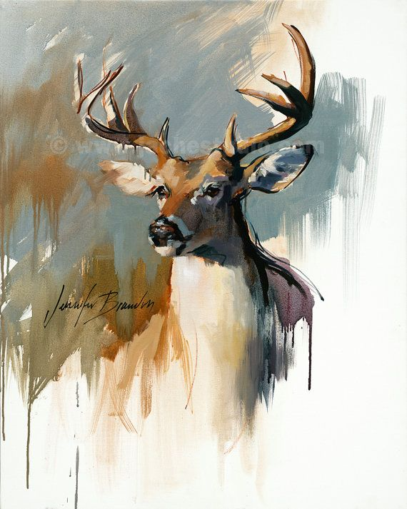 570x713 White Tailed Deer Fine Art Digital Print Archival Quality