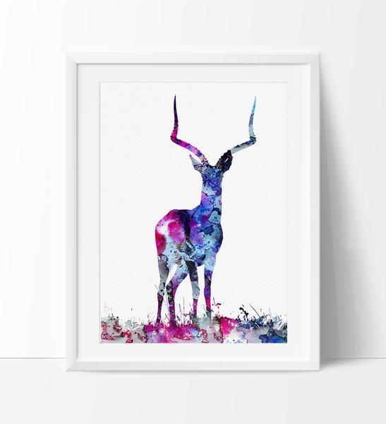 547x600 Deer Decor, Deer Figurine, Deer Art, Deer Print, Deer Painting