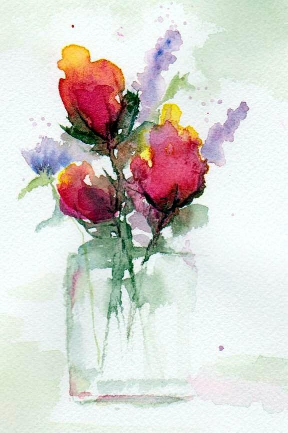 576x864 In A Vase Painting By Anne Duke