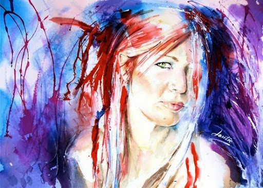 Watercolor Paintings Of People