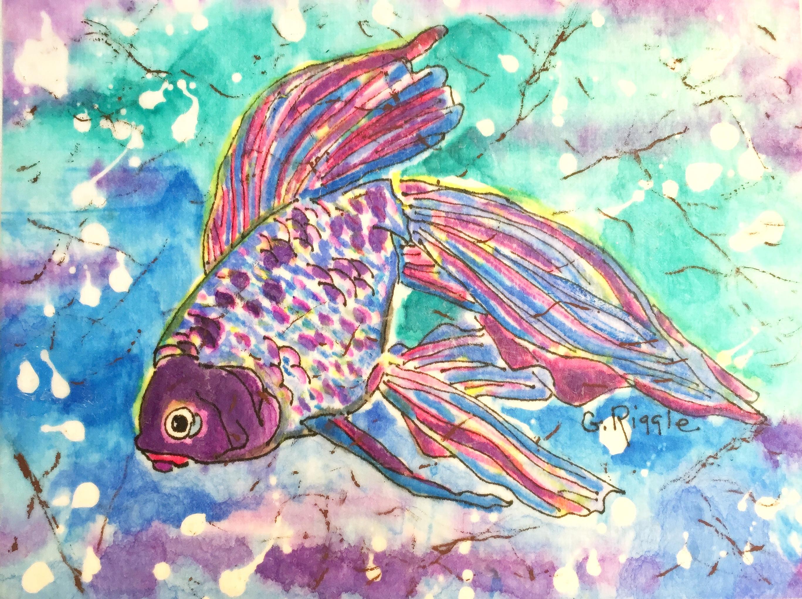 2735x2042 Paintings Of Tropical Fish Tropical Fish Watercolor Batik On