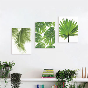 300x300 Watercolor Palm Leaf Painting Tropical Green Plant Home Decor