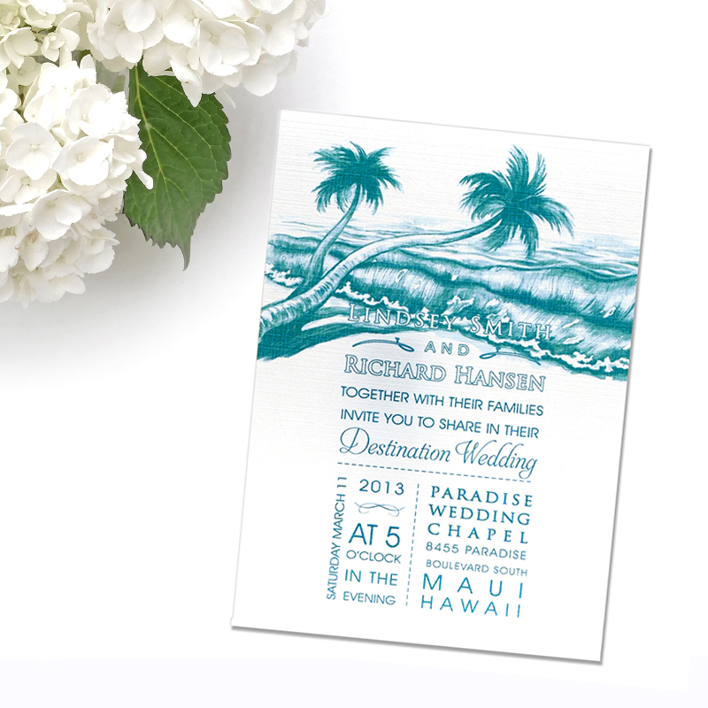800x800 Beach Wedding Invitations