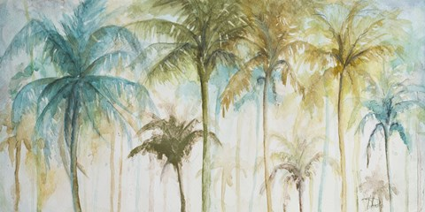 480x240 Watercolor Palms Fine Art Print By Patricia Pinto