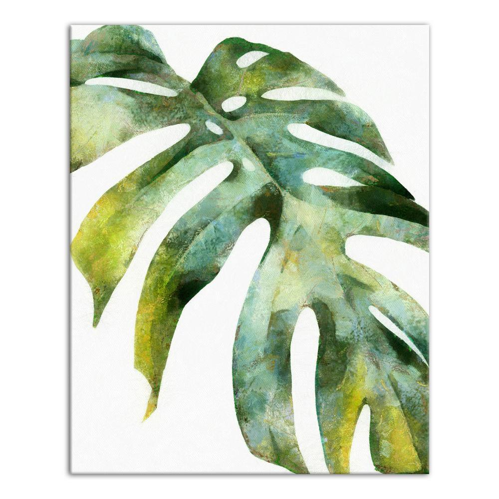 1000x1000 Designs Direct 16 In. X 20 In. 'Watercolor Palm Leaf ' Printed