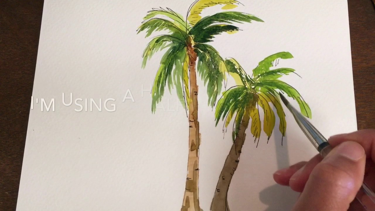 1280x720 How To Paint Simple Palm Trees In Watercolor