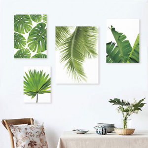 300x300 Modern Watercolor Palm Leaves Floral Prints Poster Canvas Art Wall