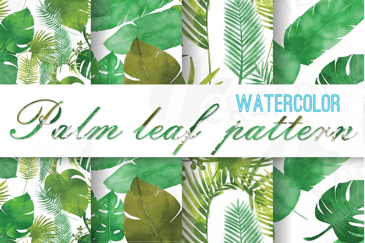 1200x800 Palm Leaf Pattern, Tropical Leaves Digital Paper, Digital