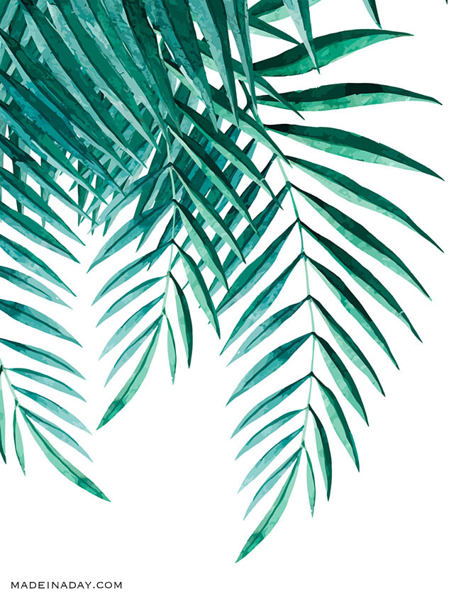 650x841 Tropical Palm Watercolor Wall Art Printables Made In A Day