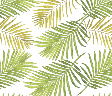 470x402 Watercolor Palm Leaves