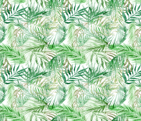 470x403 Tropical Watercolor Palm Leaves Wallpaper