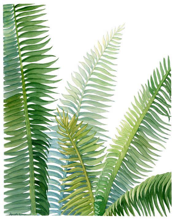 570x717 Palm Leaf Print