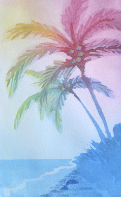 246x400 Palm Tree Painting