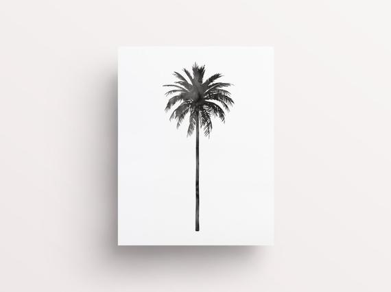 570x426 Palm Tree Print Watercolor Palm Tree Print Botanical Print Etsy