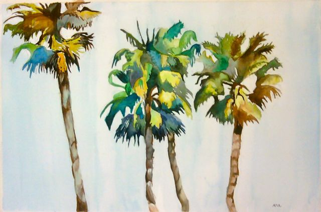 640x422 Room 101 Art Watercolor Palm Trees, Teen Class