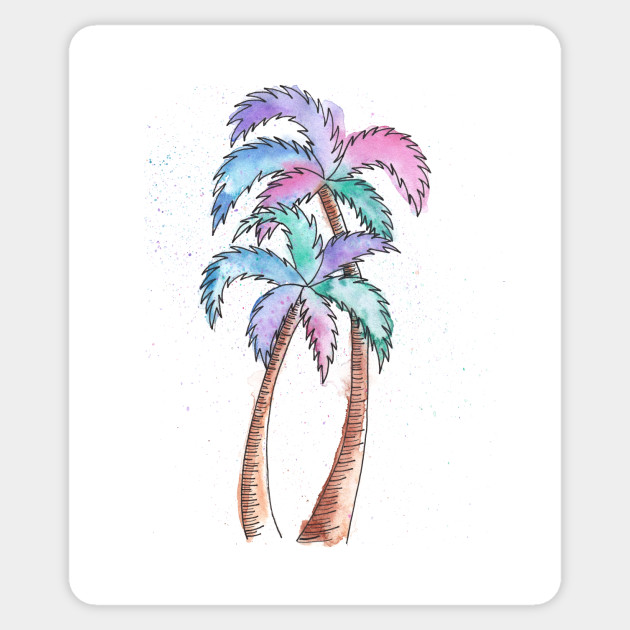 630x630 Summer Watercolor Palm Trees