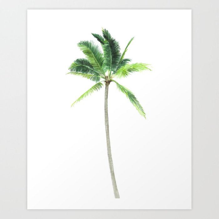 700x700 Watercolor Palm Tree Print Art Print By Lelemilojevic Society6