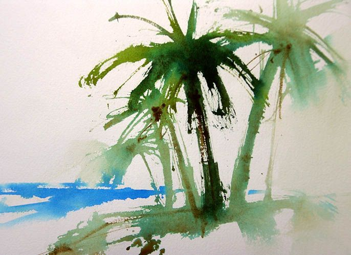 686x498 Easy Trees How To Paint Palm Trees Watercolors