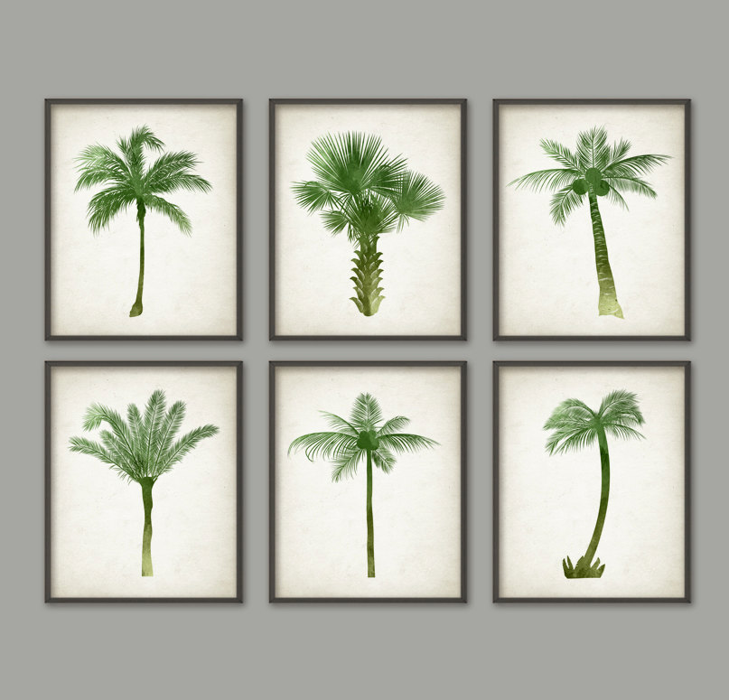 807x775 Palm Tree Wall Art